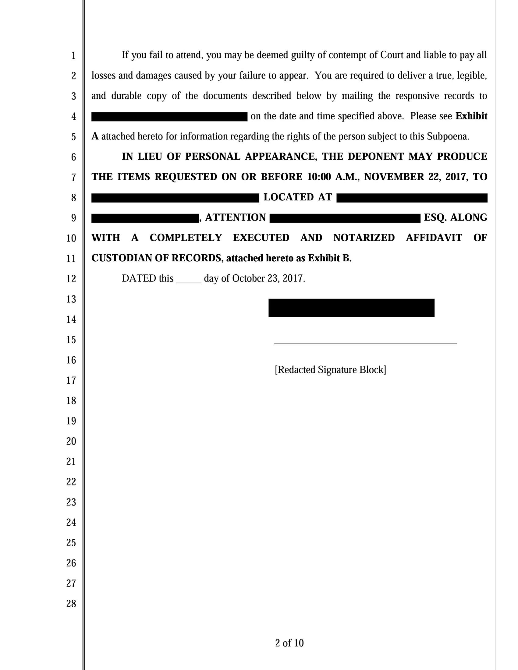 Subpoena image